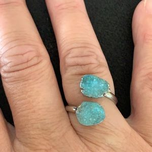 2 Stone Druzy Ring